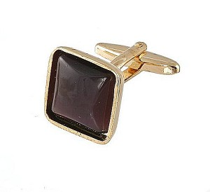 Cufflinks Gold My 0024G Purple