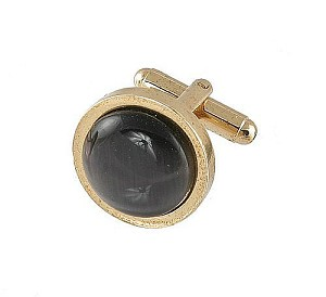 Cufflinks Gold My 0025G Black