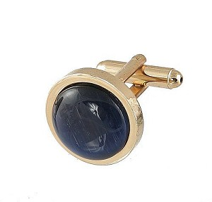 Cufflinks Gold My 0025G Navy