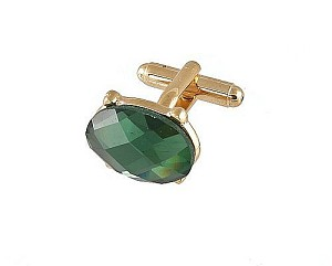 Cufflinks Gold Vs021G Green