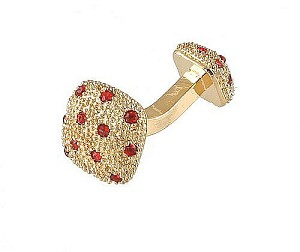 Cufflinks Gold Xk 0030G Red