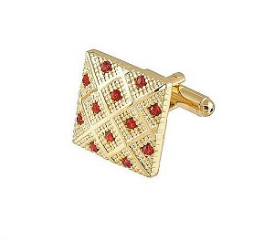 Cufflinks Gold Xk 0042G Red