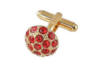 Cufflinks Gold Xk 0068G Red