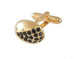 Cufflinks Gold Xk 0078G Black