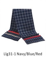 Scarf Pattern 73 x 13 in Navy / Blue / Red
